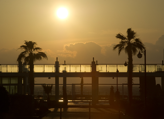 Sunset-Aphrodite-beachfront-north-cyprus