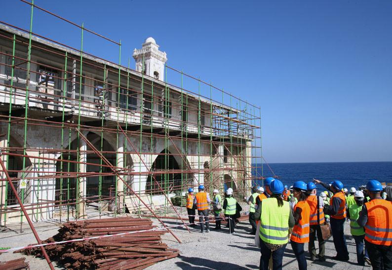 Journalists-at-Apostolos-Andreas-monastery-north-cyprus-karpaz