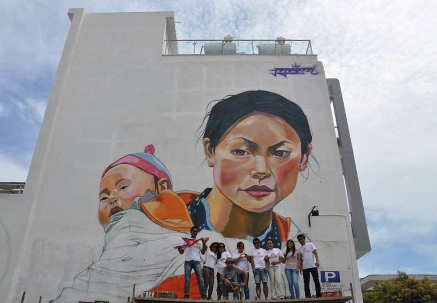 street-art-nepal-mother-child-cyprus