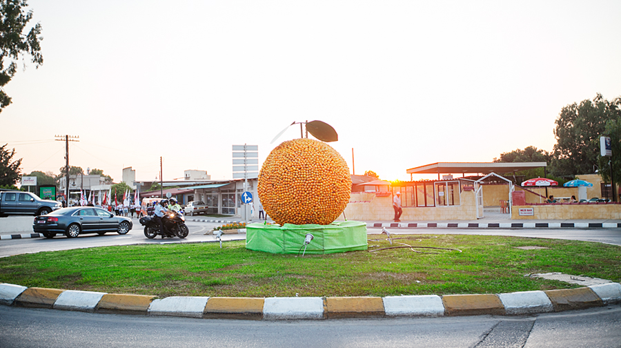 north-cyprus-Roundabouts-were-adorned-with-oranges