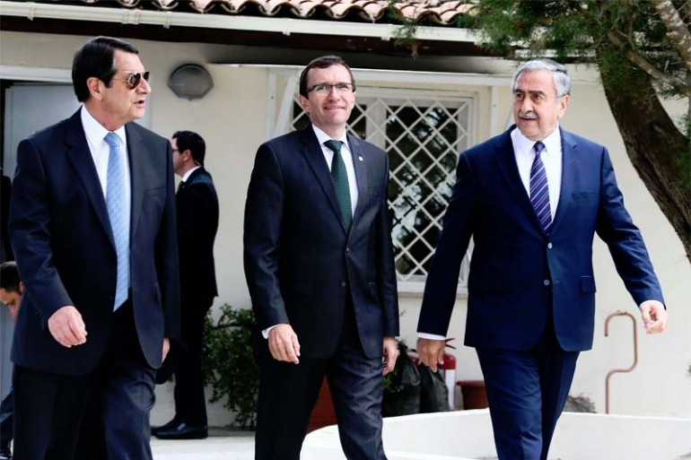 Anastasiades-President-Akinci-Eide-talking-properties
