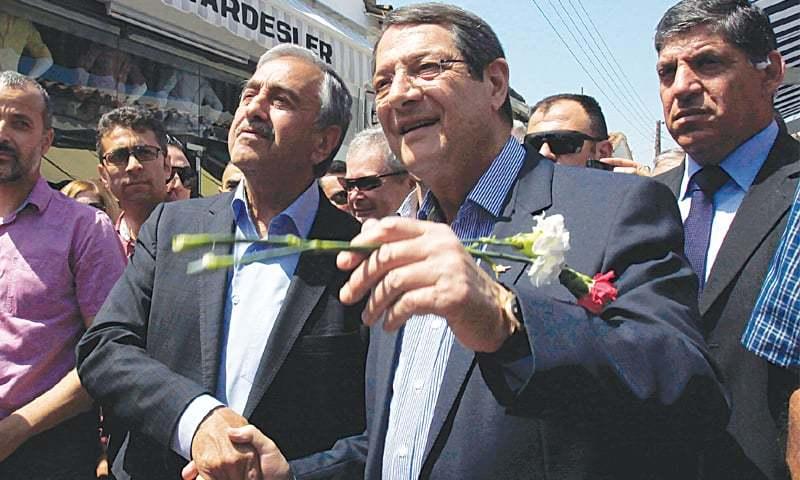 President-Anastasiades-and-president-mustafa-akinci-in-old-town-lefkosa