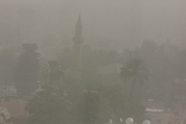 Dust has hit the capital of Cyprus