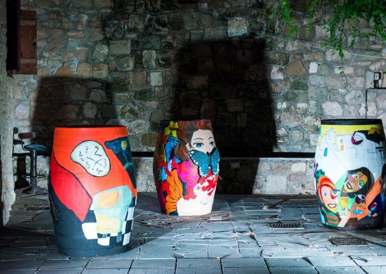 Wine-barrel-themed-art-exhibition-in-Paphos