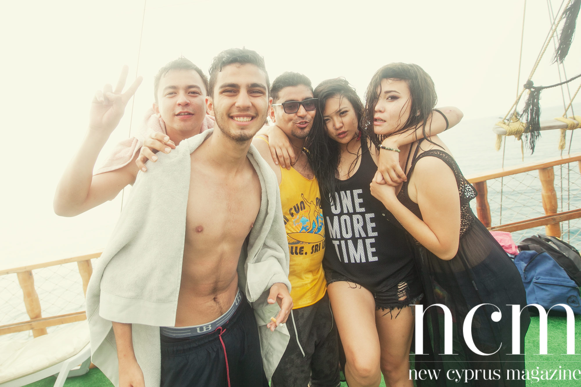 Boat party in North Cyprus