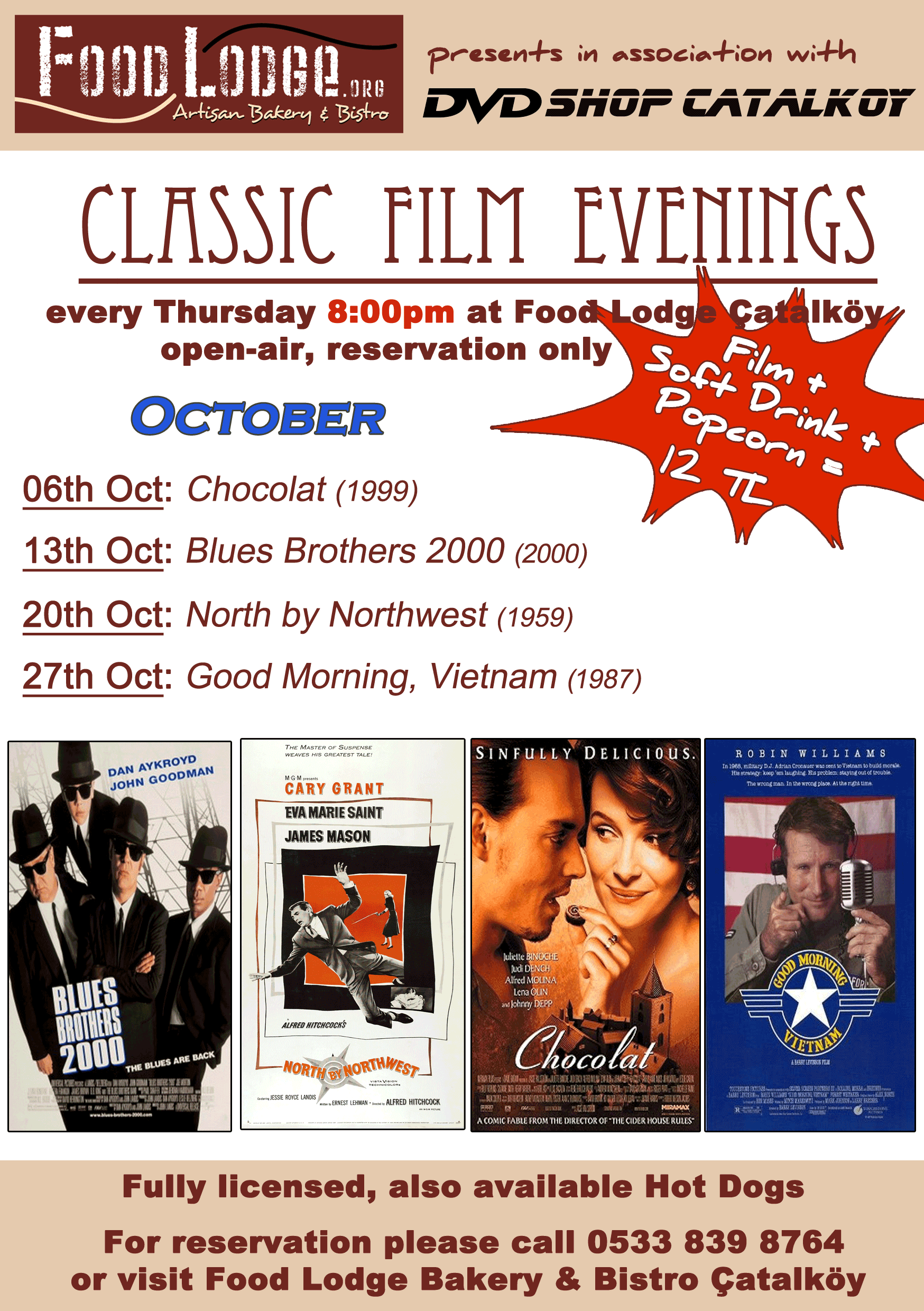 Classic film evenings at the Food Lodge
