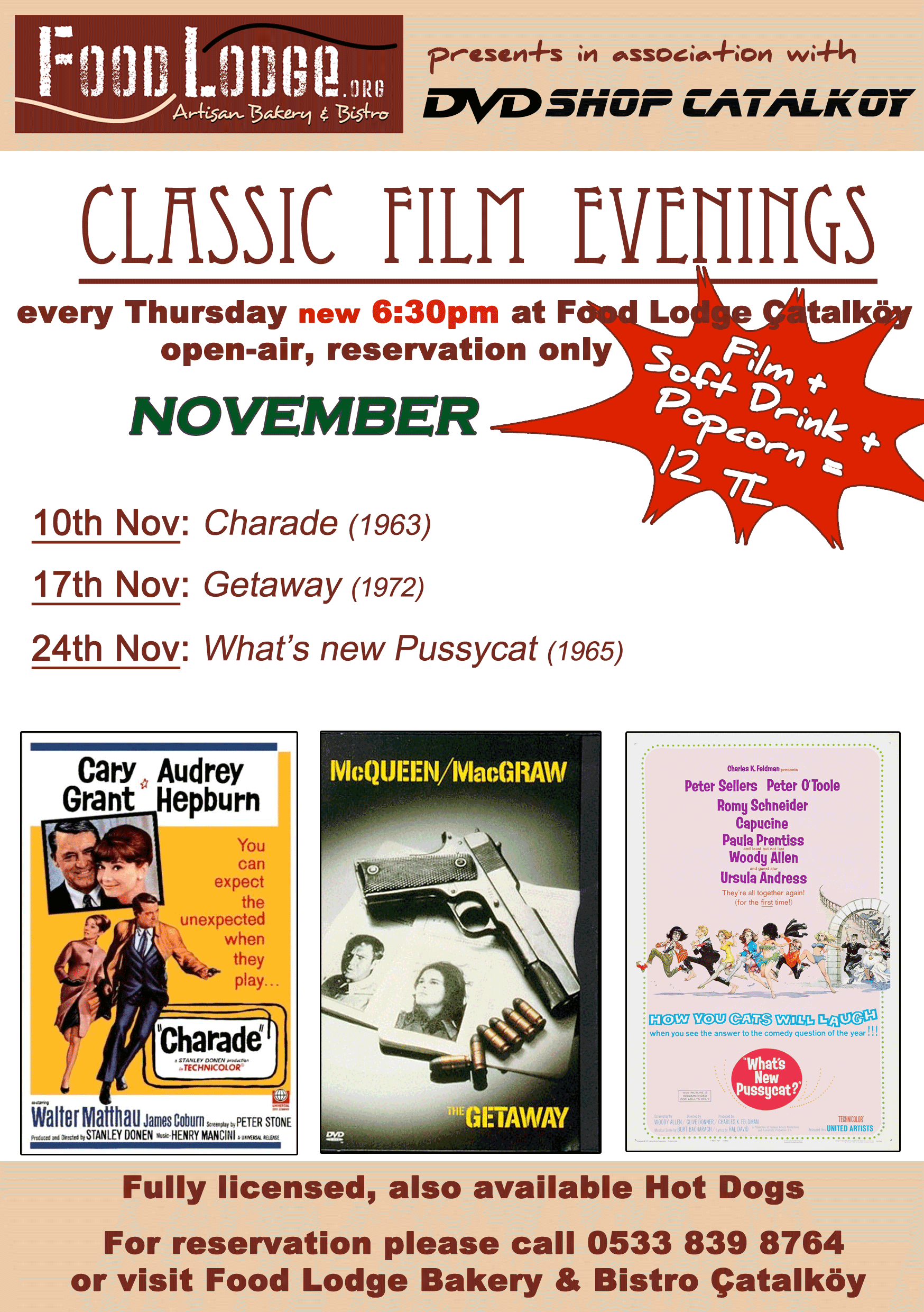 Film nights programme