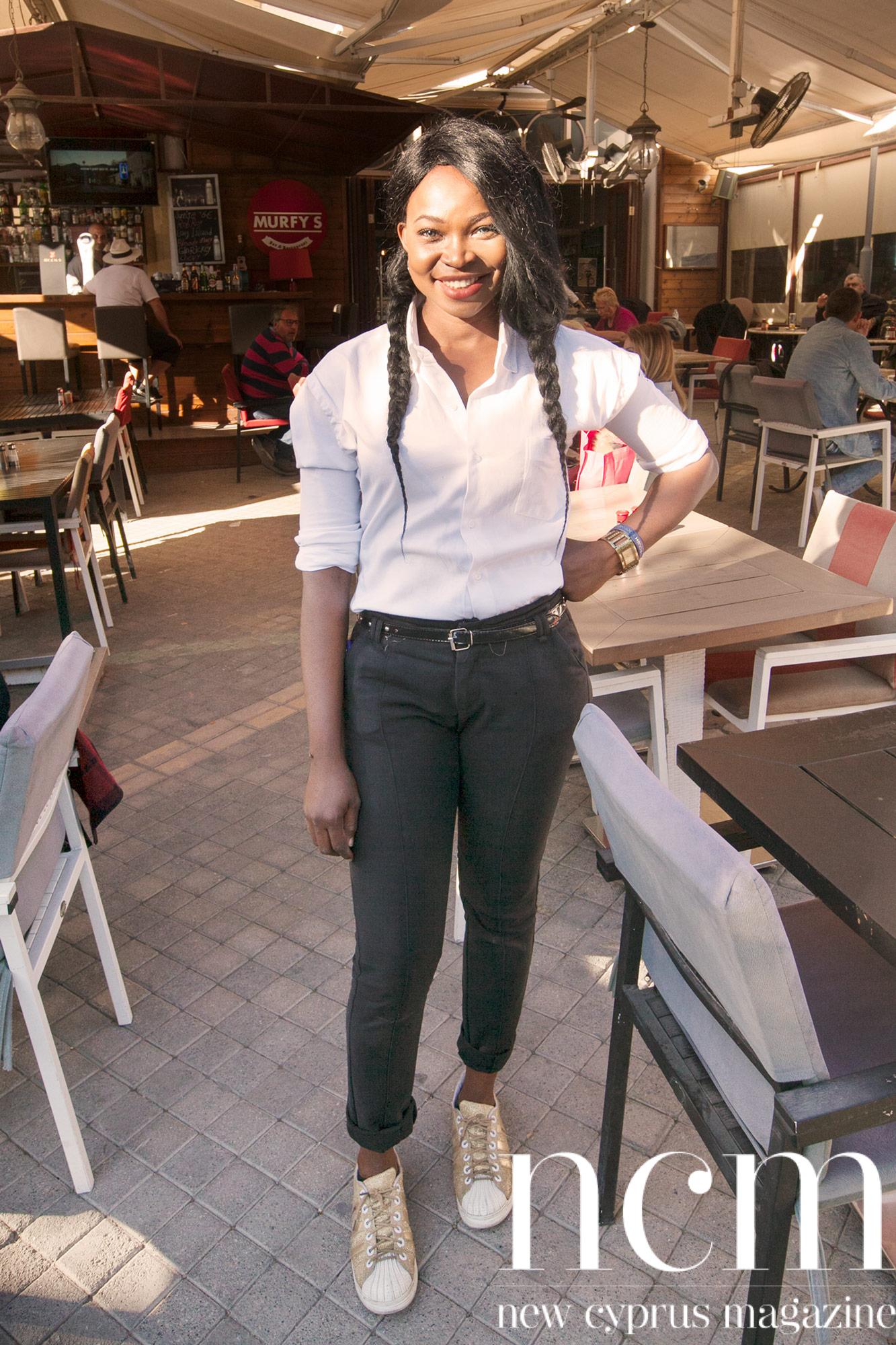 Smiling waitress