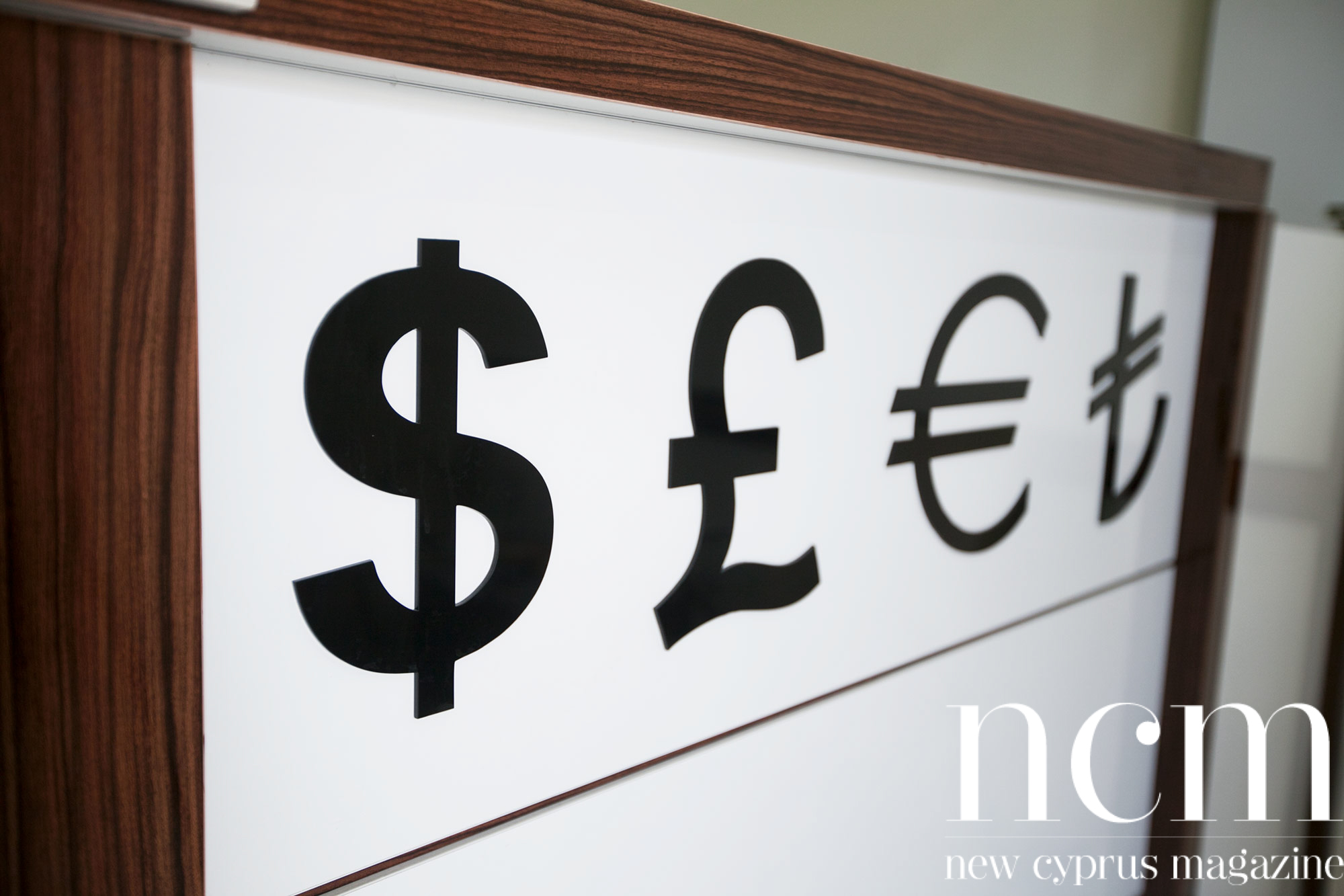 Money signs at Girne Exchange