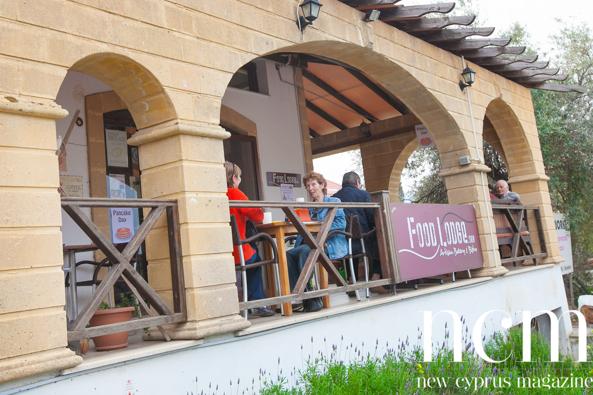 The entrance of the Food Lodge North Cyprus