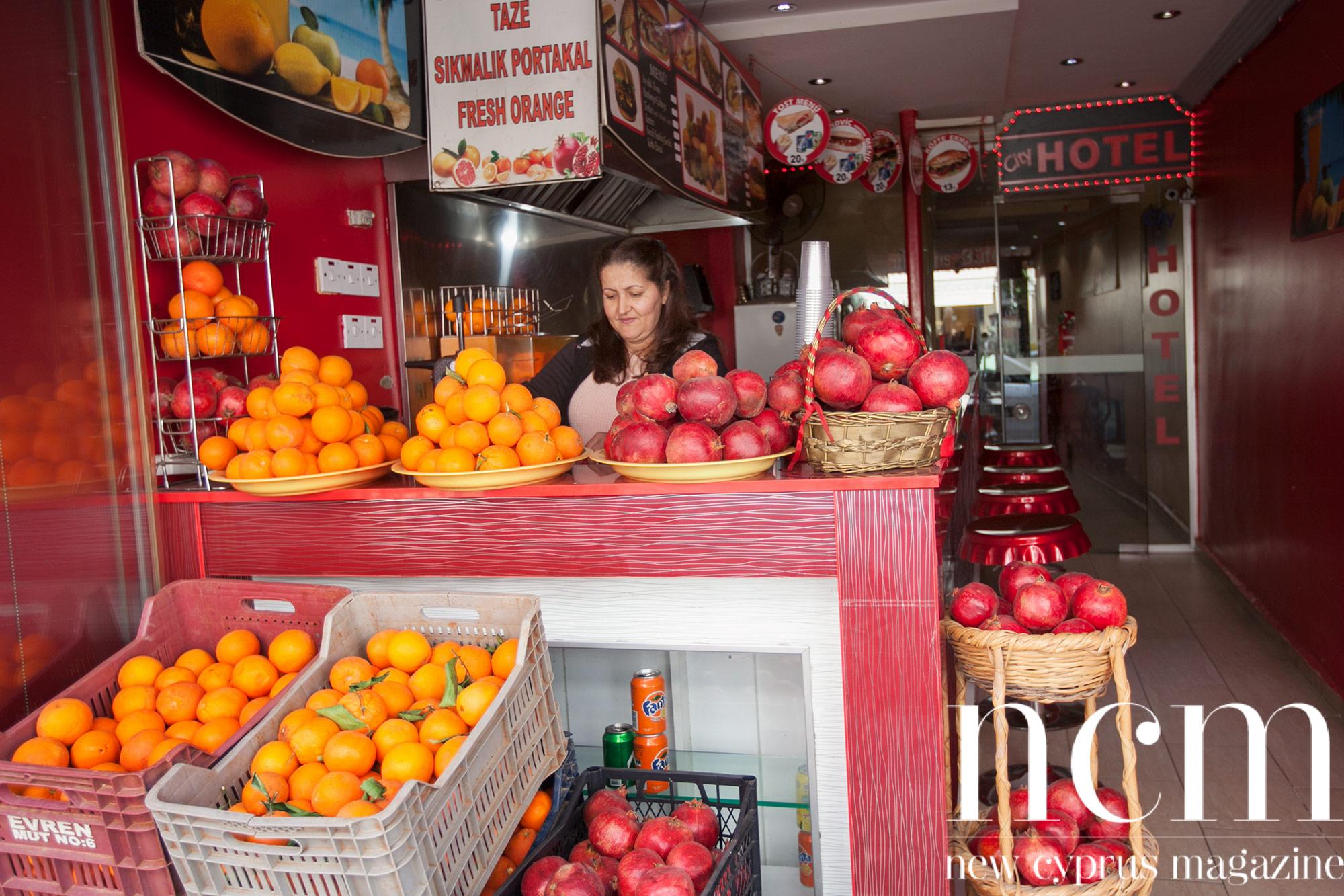 Delicious juice in Kyrenia