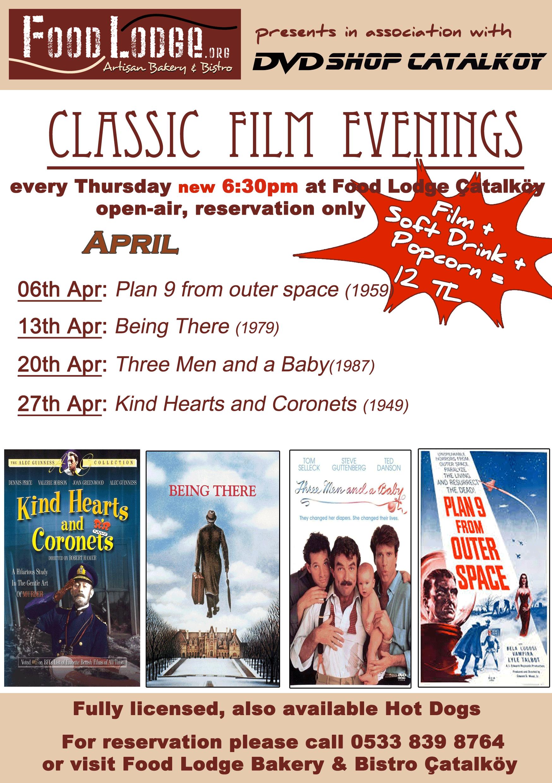 Classic films Food Lodge April