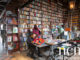 Cosy book cafe with long history