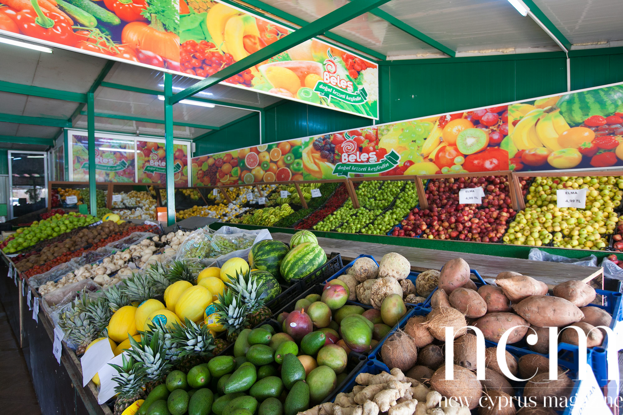 The store of Fruit veg Ya Beles in North Cyprus