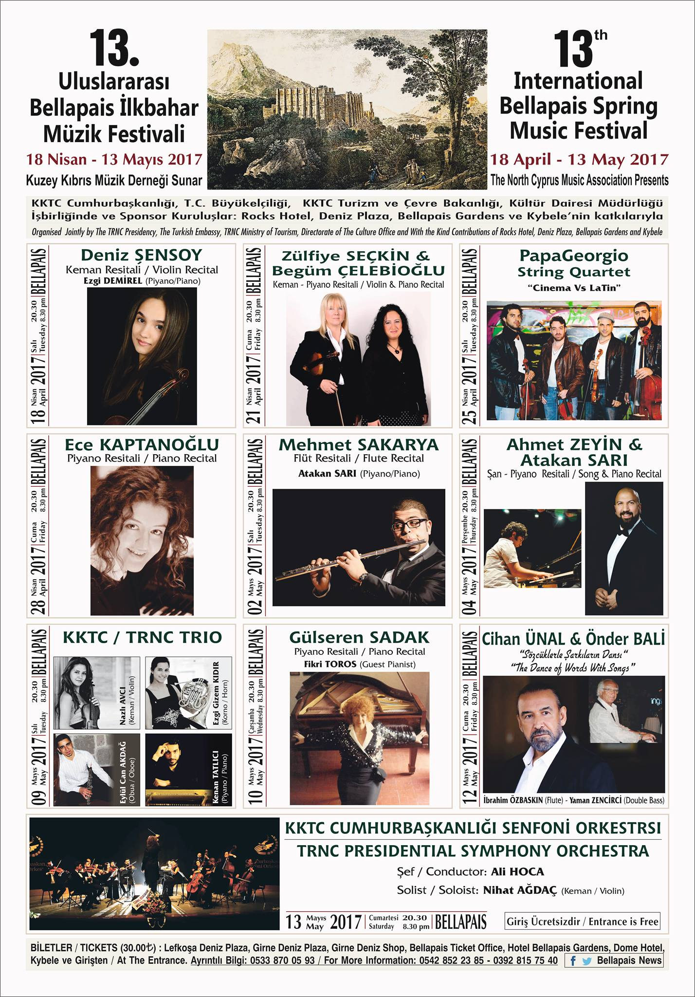 13th International Bellapais Spring Music Festival