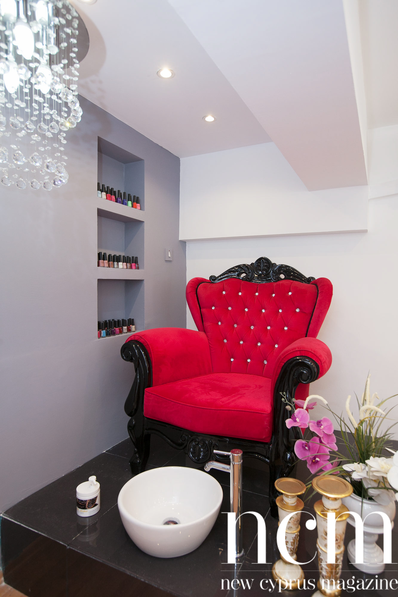 Alara Nail Salon red chair