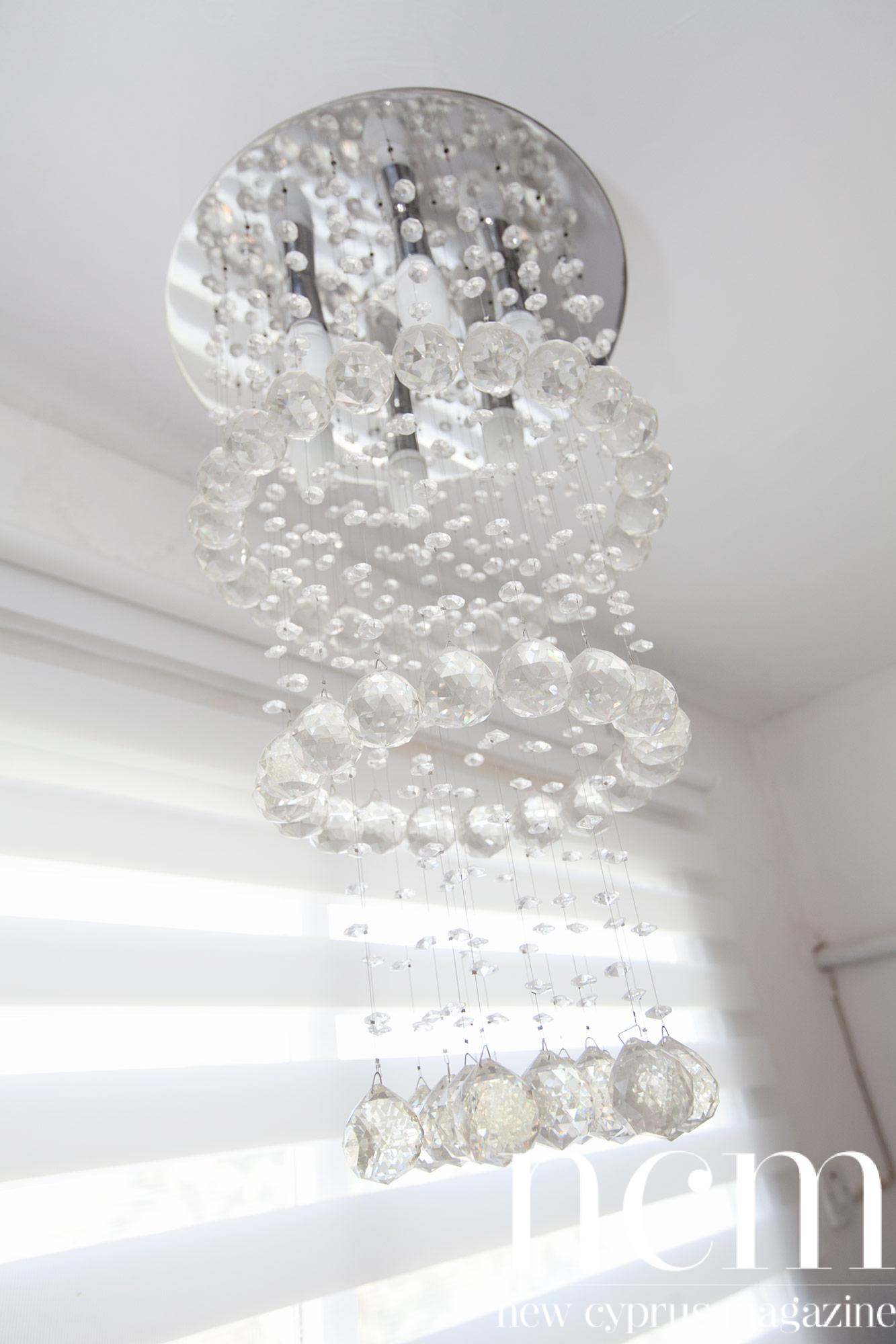 Alara Nail Salon chandelier
