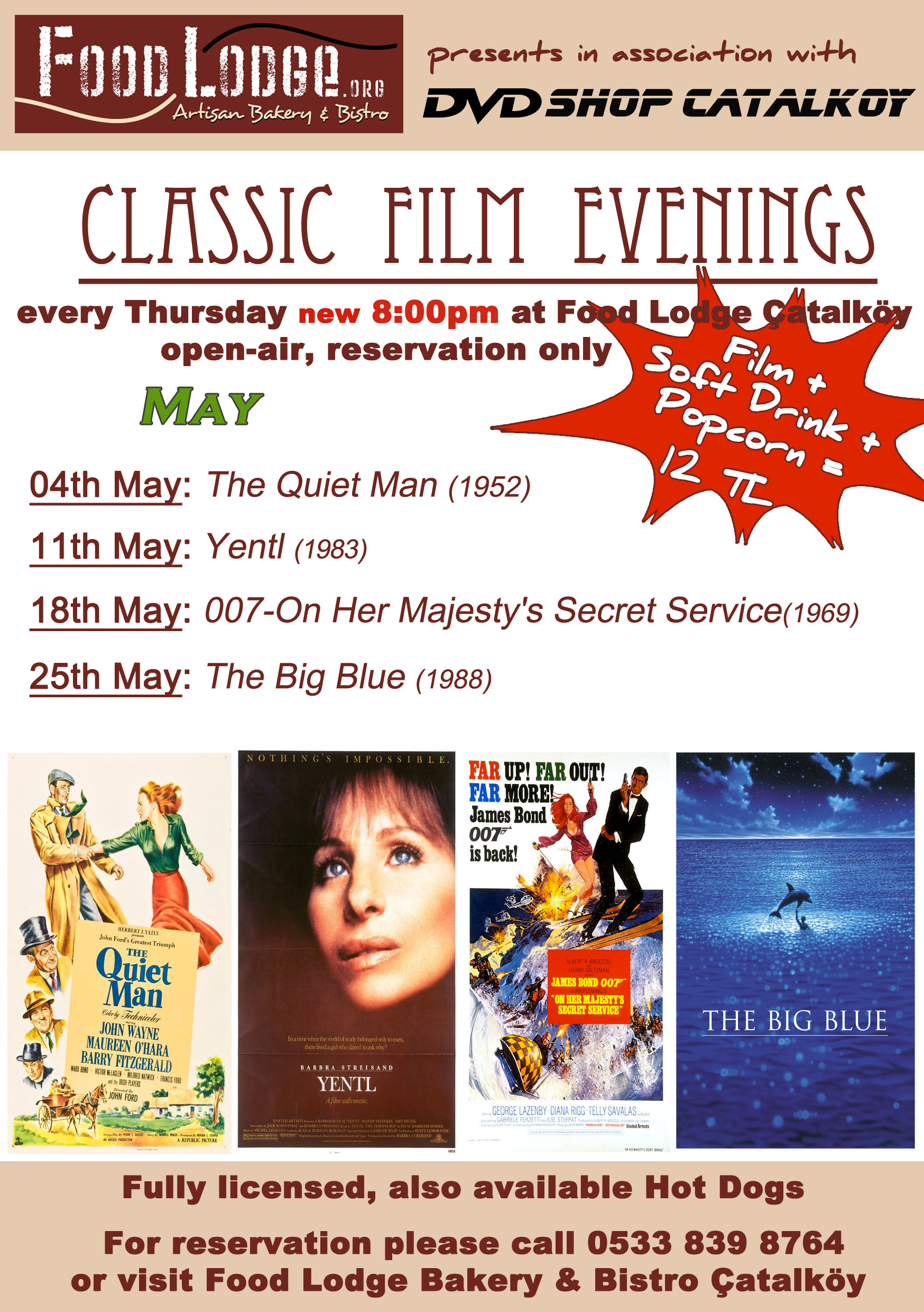 Classic Film Evenings in May