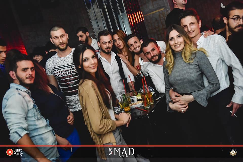 International DJ packs Cratos Mad Club group photo