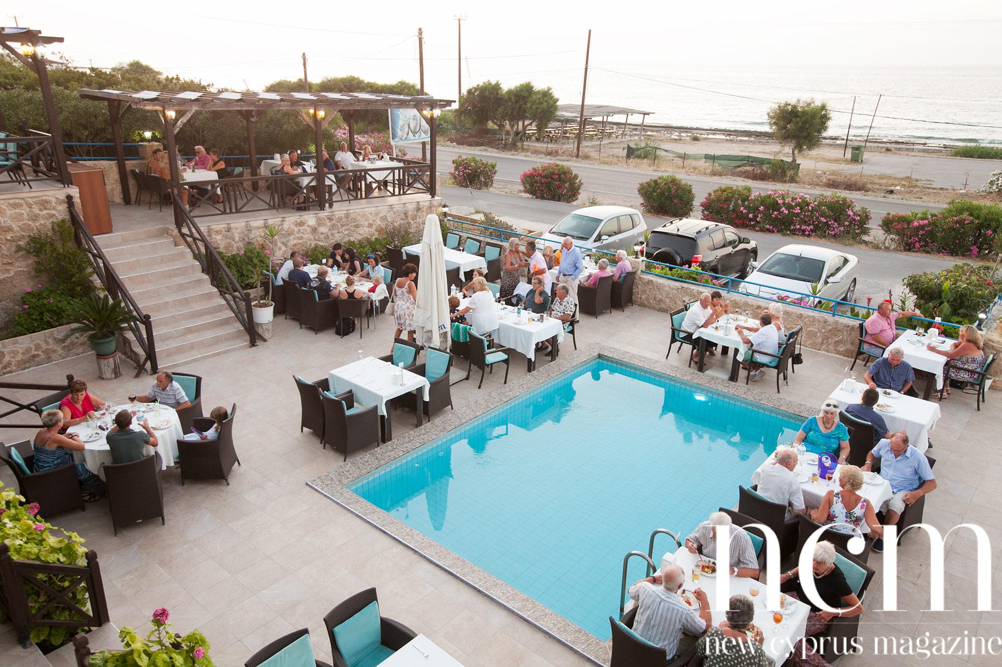 Dinner sunset Blue Garden Restaurant