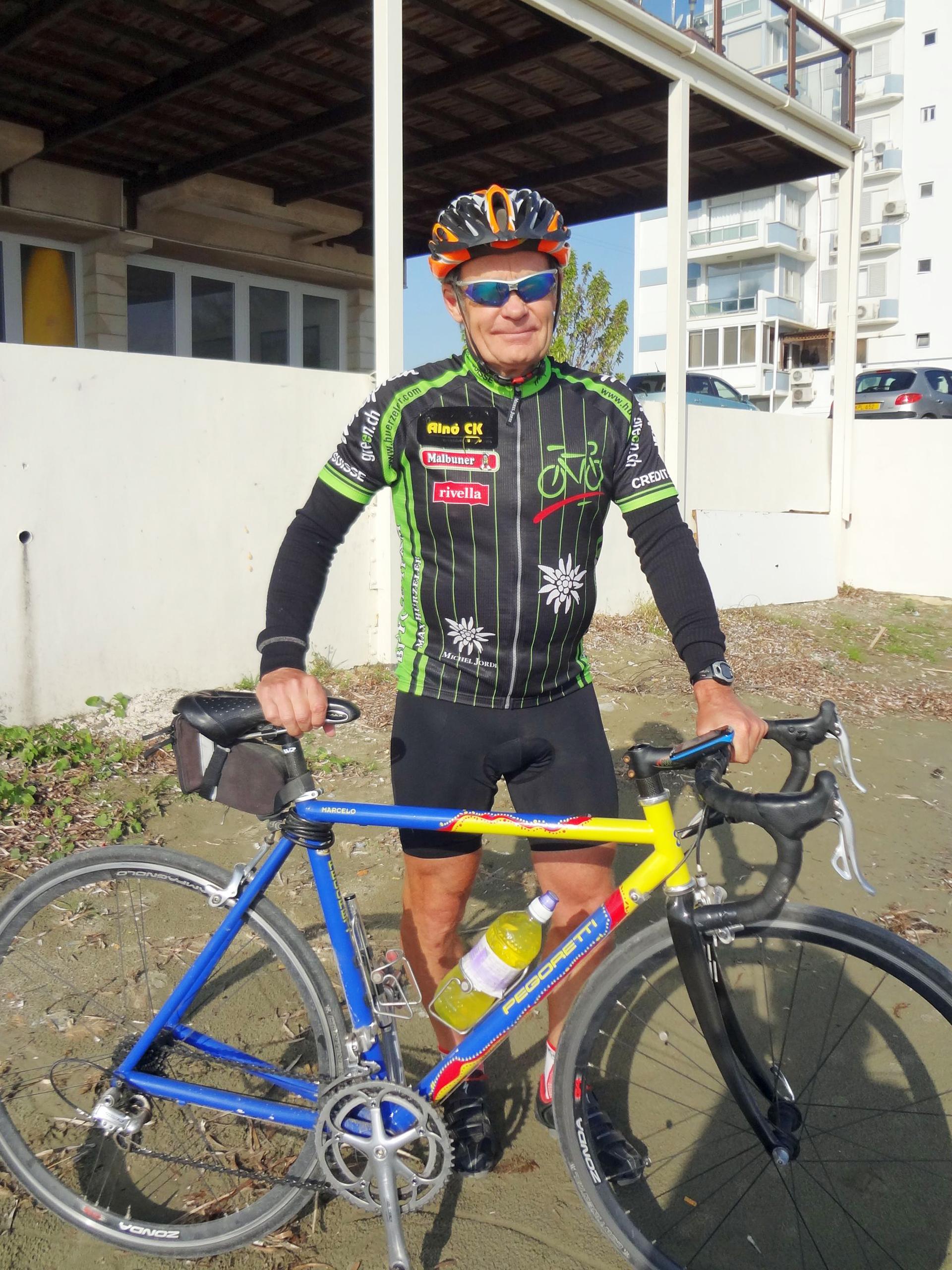 Swedish cyclist Dick Fredin fell for bicycle-friendly Cyprus