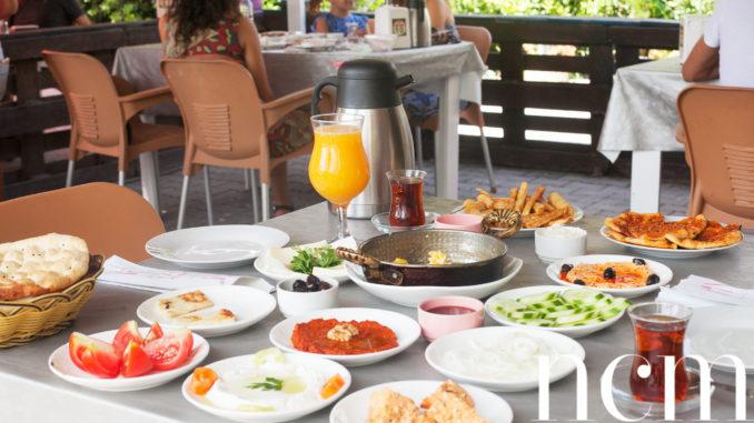 Turkish breakfast at the breakfast café