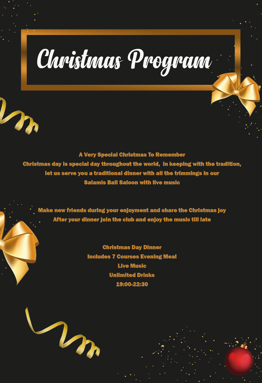 Christmas party at Salamis Hotel & Casino Famagusta